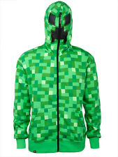 Minecraft Creeper Premium Zip Up Hoodie Costume Officially Licensed ADULT S-XXL