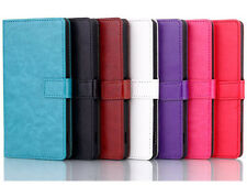 Fashion Classic ID Card Wallet Flip Stand/Holder PU Leather Cover Case For Phone