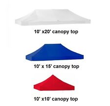 New EZ Pop Up CANOPT TENT 10X10X15X20' Replacement Instant Canopy Top Cover