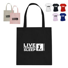 Catchy Shubby Cricket Gift Tote Bag Live Breathe Sleep Catchy Shubby