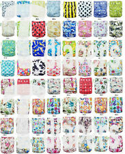 Pocket Cloth Diaper Nappy Baby Infant Reusable All In One Size + 1Insert