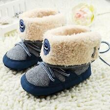 Winter 0-18M Infant Baby Boy Snow Boots Soft Sole Lace Up Warm Boots Shoes BOE