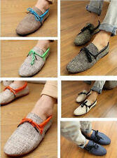 NEW-Mens-Canvas-Casual-Lace-Slip-On-Loafer-Shoes-Moccasins-Driving-Shoes