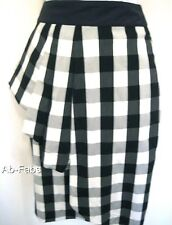 Ladies New Karen Millen Pencil Skirt Sizes 6,8 Black White & Grey Gingham Cotton