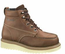 New Mens Wolverine Moc-Toe Wedge Steel Toe Safety Work Boot Oil Resistant W08289