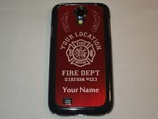PERSONALIZED cell phone case fits: SAMSUNG GALAXY S4, FIREFIGHTER, FIREMAN,L@@K!