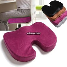 Memory Foam Seat Chair Lumbar Back Support Cushion Pillow for Office Home Car ON