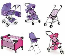 TOYRIFIC DELUXE CHILDREN DOLLY DOLLS PRAM BUGGY TOY GAME SNUGGLE PUSHCHAIR COT