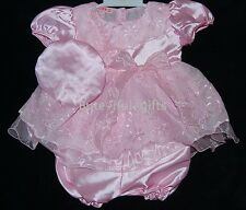Baby Girls Satin/Voile Dress Pants & Hat Set 6-9 Month LAST ONE