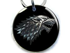 Stark wolf black Game of Thrones GOT dog cat custom tag for pets