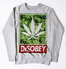 NEW DISOBEY WEED JUMPER SWEATSHIRT MEN DOPE SWAG HIPSTER OBEY UNISEX LEAF GRASS