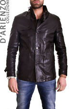 Giacca in di Vera Pelle Uomo Man Leather Jacket Veste Blouson Homme mod.GM