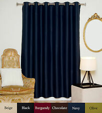 "RETURNED ITEM! Wide Antique Brass Grommet Top Blackout Curtain 80"" by 96"" Panel"