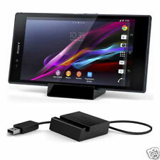 Black Desktop Dock Station Magnetic Charger Stand Holder Cradle for Sony Xperia
