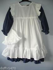 VICTORIAN COSTUME Dress apron /  Pinafore and mop hat FREE DELIVERY