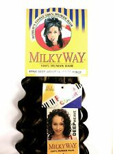 "SHAKE N GO MILKY WAY 100% HUMAN HAIR DEEP WEAVE 14"" DEEP WAVE WEAVING HAIR"