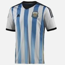 NEW Mens ADIDAS AFA Argentina Official 13/14 Home White Blue Soccer Jersey Shirt