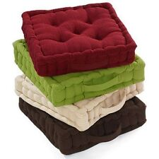 100% Cotton Cover Booster Cushion Thick Seat Pads Adults Chair Armchair Garden