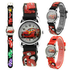 Cute Cartoon Car Printed Quartz Child Watchs Children Kids Watch Cuff Band Gift