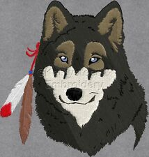 Wolves with Feathers - Machine Embroidery Designs Set of 10 On CD