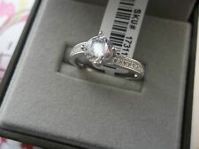 AAA Stimulated Diamond Ring 1.50 Ct 2.15 Grams of Rhodium Plated 925 Sterling S