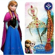 Disney Cosplay Frozen Movie Girls Queen Elsa Princess Crown&Hair Piece&Wand Set