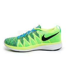 WMNS Nike Flyknit Lunar2 [620658-701] Running Volt/Black-Blue-Electric Green