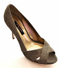 Nina Women's Fosetta GM Gold Dress Pump, Sparkle Platino Bliss, 9 M US