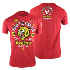 Fear The Fighter Muay Thai T-Shirt (Red) - mma ufc bjj