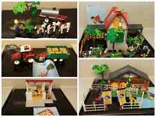 playmobil 4494 4496 4490 3120 7392 bard farm pony stable tractor trailer cows