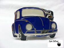 COOL BLUE VW BEATLE CLASSIC CAR BUCKLE WITH BELT *BRAND NEW*
