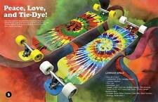 Punked Tiedye graphics Lowrider Drop down through Longboard Complete skateboard