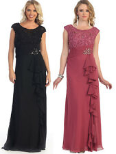 11 COLORS FORMAL OCCASION MOTHER OF BRIDE or GROOM CLASSY EVENING DRESS M - 5XL