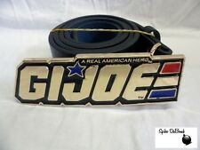 AWESOME 'A REAL AMERICAN HERO' G.I. JOE SHINEY GOLD BUCKLE WITH BELT *NEW*