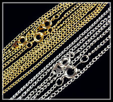 """20Pcs Nice necklace Gold/Silver Cross chain round clasp jewelry making 17"""",23.5"""""""