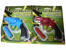 Die Cast 8 Shot Ring Cap Kids Toy Gun with Silencer Revolver Refill Caps Choose