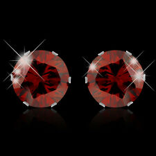 Stainless Steel Colorful Round CZ Stones 6 Colors 2014 Hot Women Stud Earrings