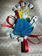 Baby shower Daddy grandpa boutonniere Dr Seuss The cat in the hat thing 1 & 2