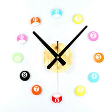 Wall Clock Modern Designs Home Decor Watch DIY Creative Snooker Stickers Hours