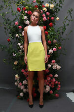 Ministry of Style by Bebe Sydney Oppose Fitted Dress - Lemon/Ice- RRP AUD$169.95