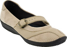 Arcopedico Women's L39 Mary Jane Casual Water-Resistant Flat Shoes Beige 4491