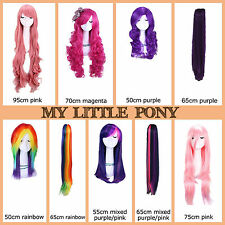 USA Ship My Little Pony Twilight/Dashie/Rarity/Fluttershy/Pinkie Pie Cosplay Wig