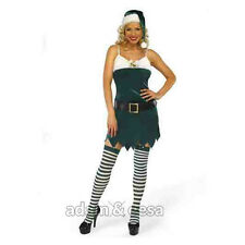 Womens  Christmas Festive Sexy Fancy Dress Outfits Xmas Elf Santa XS-XL