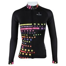New Womens Cycling Jersey Long Sleeve BicycleCycle Top Wear Blue Cube Eyes #182