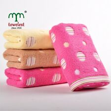 Soft High Quality Cotton Hand Towels Muslin Circle Face Towel Washcloths 3 Color