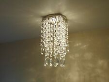 NEW Luxe Crystal Clip On Chandelier Trim for Recessed Spot light Ceiling Pendant