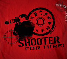 Shooter for hire - Photographers picture lens flash shot hi camera tee t-shirt