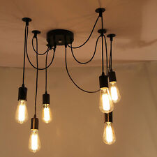 Vintage Industrial DIY Pendant Ceiling Lights Kitchen Chandelier+Remote control