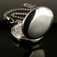 Vintage Silver Full-Hunter Style Classic Mechanical Man Mens Windup Pocket Watch