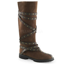 Brown Medieval Scottish Highland Mens Renaissance Fair Costume Boots size 13 14